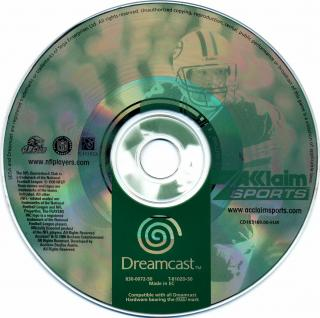 NFL Quarterback Club 2000 (PAL) CD Scan - Click for full size image