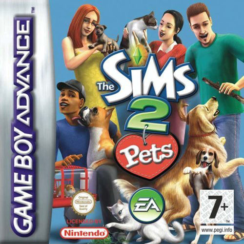 The Sims 2 - Pets (U)(Rising Sun) Box Art