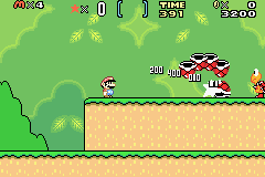 Super Mario World - Super Mario Advance 2 (U)(Mode7) Snapshot