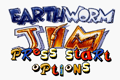 Earthworm Jim (U)(Mode7) Title Screen