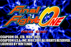 Final Fight One (U)(Mode7) Title Screen