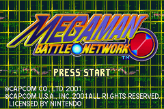 MegaMan Battle Network (U)(Venom) Title Screen