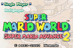 Super Mario World - Super Mario Advance 2 (U)(Mode7) Title Screen