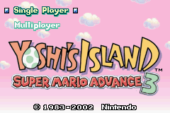Yoshi's Island - Super Mario Advance 3 (U)(Mode7) Title Screen