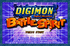 Digimon Battle Spirit (U)(Noitami) Title Screen