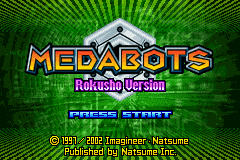 Medabots - Rokusho Version (E)(GBATemp) Title Screen