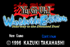 Yu-Gi-Oh! Worldwide Edition (U)(RDG) Title Screen