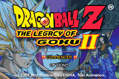 Dragon Ball Z - The Legacy of Goku II (E)(Eurasia) Title Screen