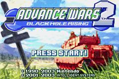 Advance Wars 2 - Black Hole Rising (U)(Mode7) Title Screen