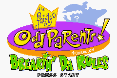 The Fairly OddParents - Breakin' Da Rules (U)(Eurasia) Title Screen