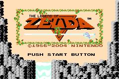 Classic Nes - The Legend of Zelda (U)(TrashMan) Title Screen