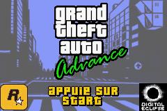 Grand Theft Auto Advance (E)(Rising Sun) Title Screen