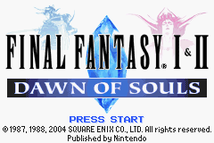 Final Fantasy I & II - Dawn of Souls (U)(Independent) Title Screen