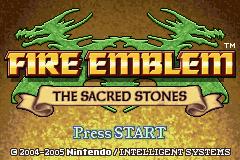Fire Emblem - The Sacred Stones (U)(TrashMan) Title Screen