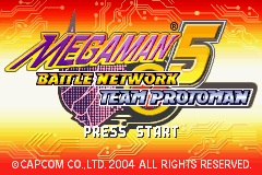 Megaman Battle Network 5 - Team Protoman (U)(Trashman) Title Screen