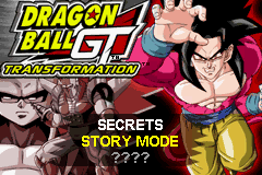 Dragon Ball GT - Transformation (U)(Trashman) Title Screen