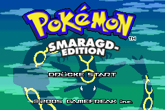 Pokemon Smaragd Edition (G)(Rising Sun) Title Screen
