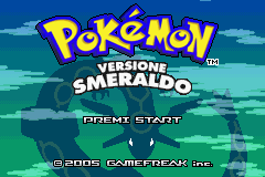 Pokemon - Versione Smeraldo (I)(Pokemon Rapers) Title Screen