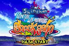 Shinchan contra los Munecos de Shock Gahn (S)(Independent) Title Screen