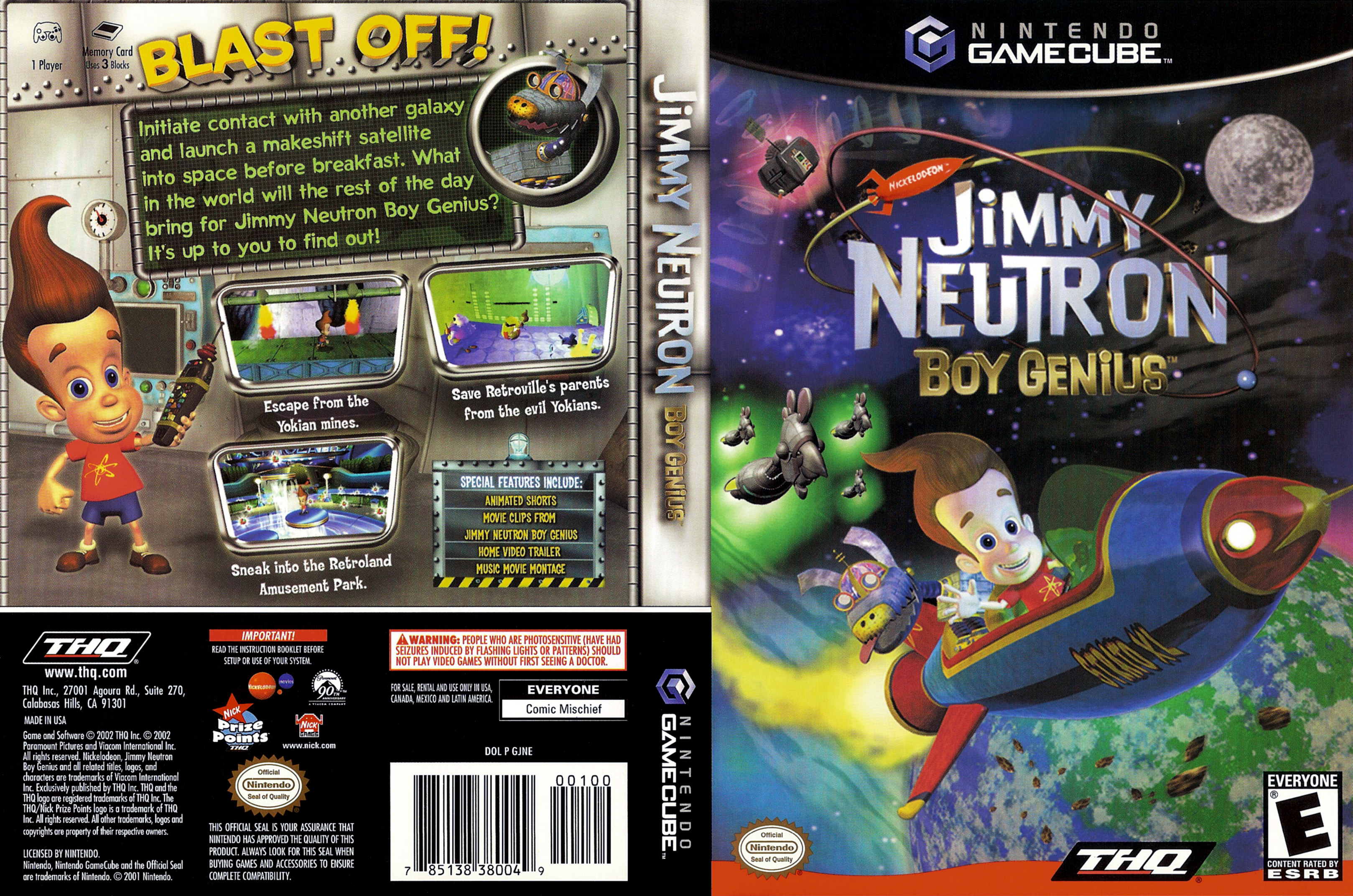 Jimmy neutron boy genius games online
