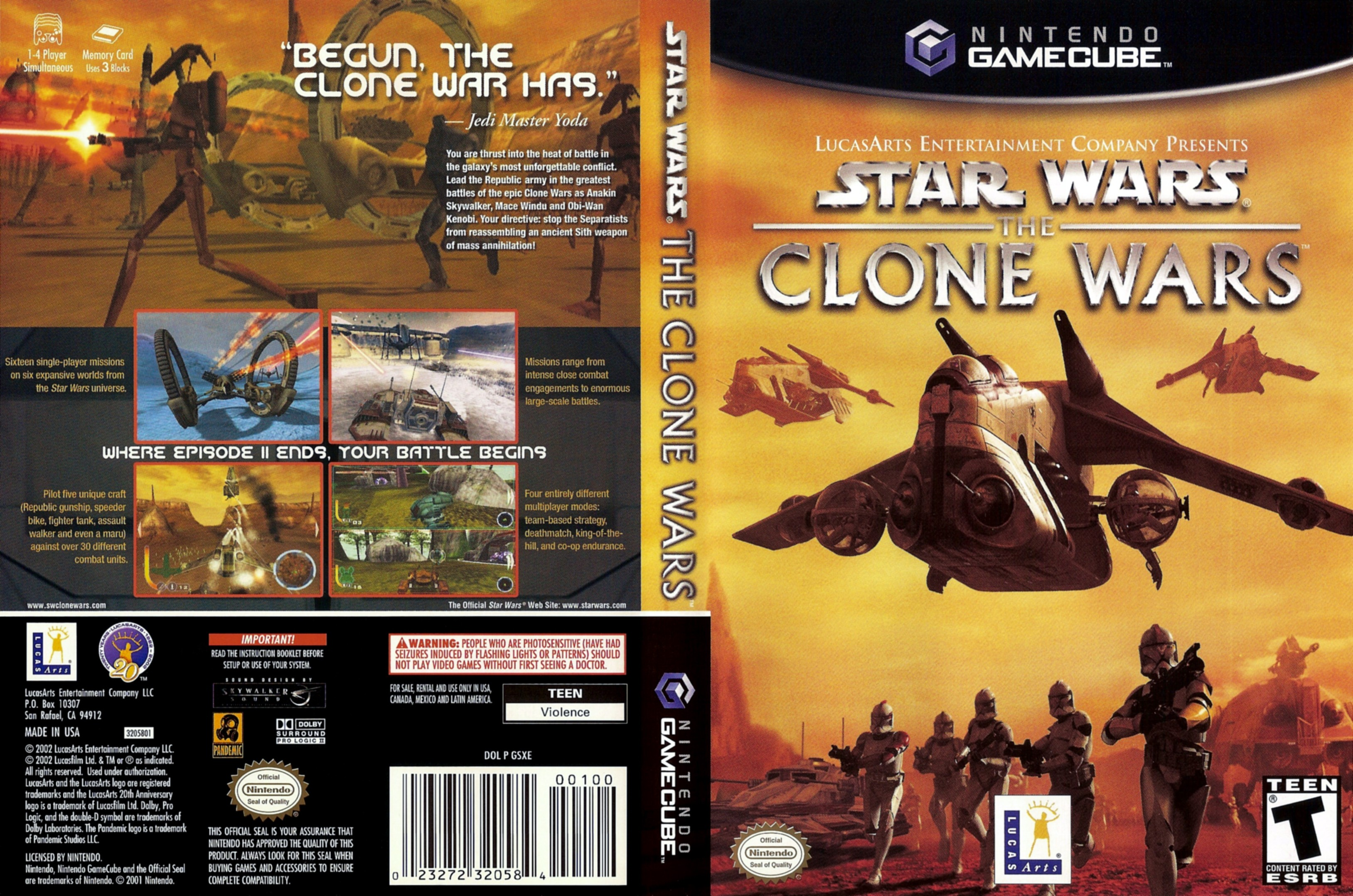 Star Wars Clone Wars Handheld Game Star Wars The Clone Wars Cover