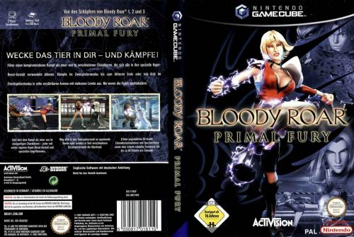 Bloody Roar Primal Fury Cover - Click for full size image