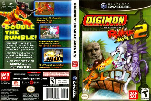 Digimon Rumble Arena 2 Cover - Click for full size image