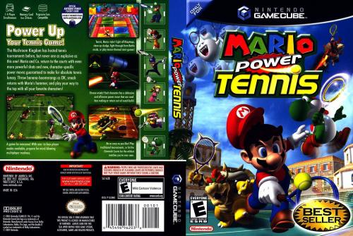 Mario Power Tennis Cover - Click for full size image