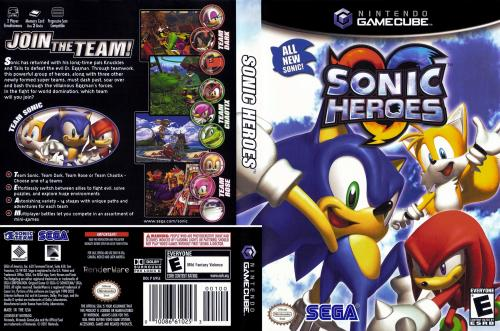 Sonic Heroes Cover - Click for full size image