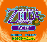 Legend of Zelda, The - Oracle of Ages (USA) Title Screen