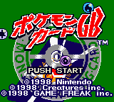 Pokemon Card GB (Japan) Title Screen