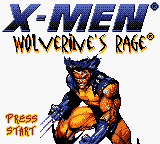 X-Men - Wolverine's Rage (USA) Title Screen