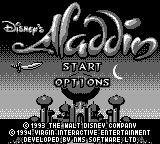 Aladdin (Europe) Title Screen
