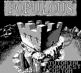 Populous (Europe) Title Screen