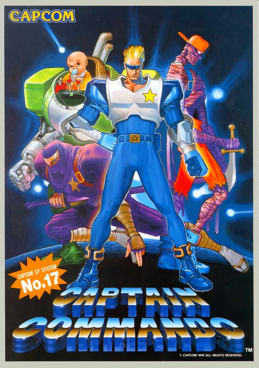 download captain commando cps1 arcade