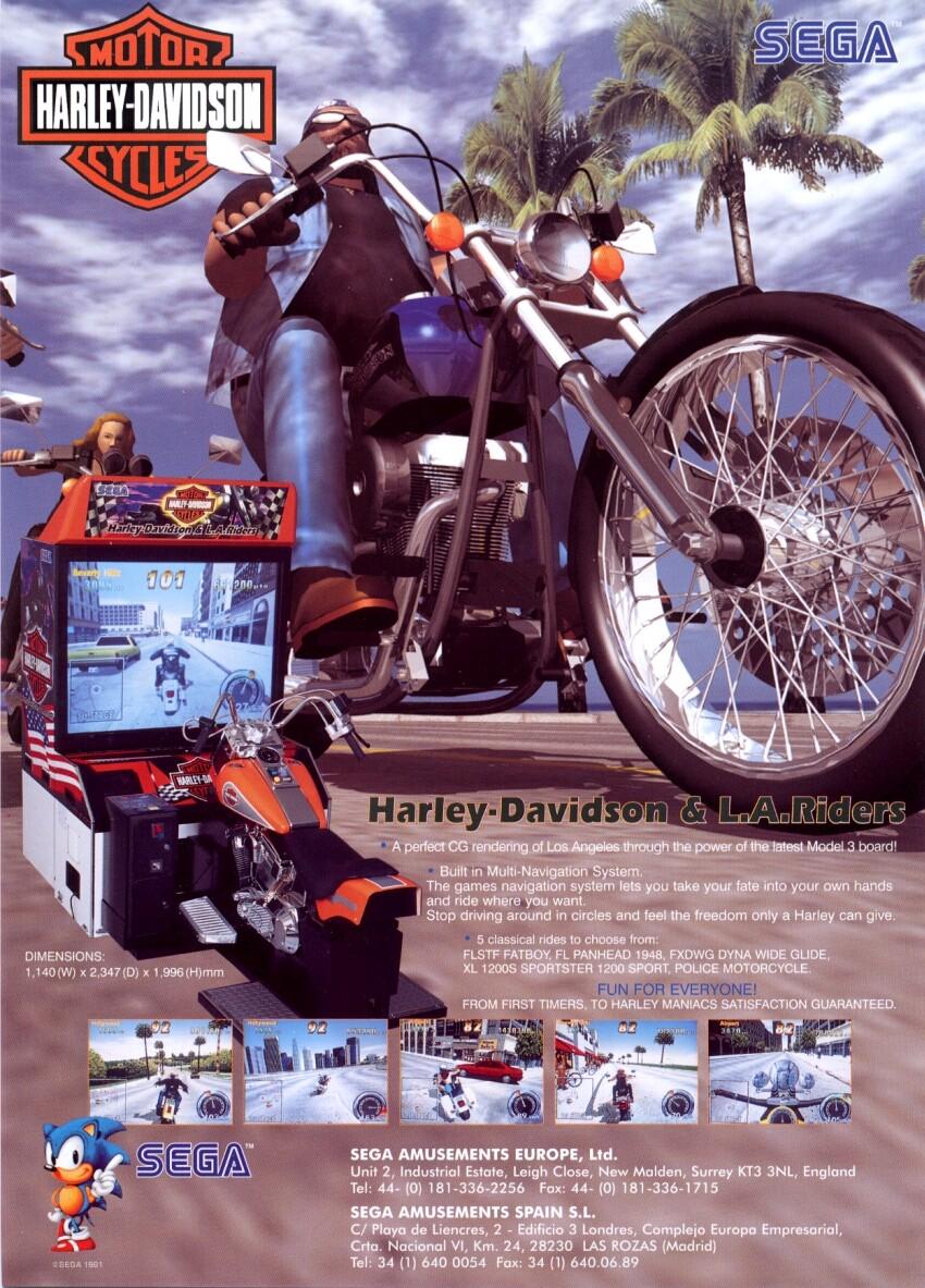 Sega Harley Davidson La Riders Manual