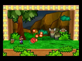 Paper Mario (Europe) (En,Fr,De,Es) In game screenshot