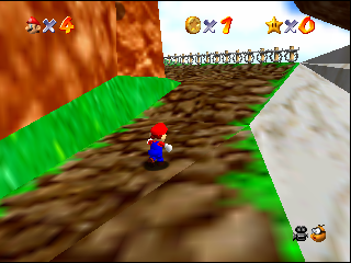 Super Mario 64 (Europe) (En,Fr,De) In game screenshot