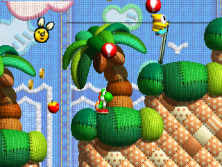 Yoshi's Story (USA) (En,Ja) In game screenshot