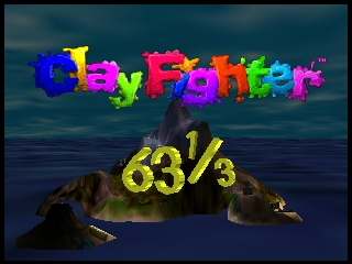 Clay Fighter 63 1-3 (USA) (Beta) Title Screen