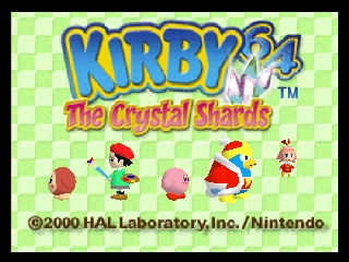 Kirby 64 - The Crystal Shards (USA) Title Screen