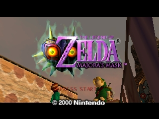 Legend of Zelda, The - Majora's Mask (USA) Title Screen
