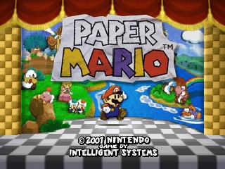 Paper Mario (Europe) (En,Fr,De,Es) Title Screen