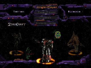StarCraft 64 (USA) Title Screen