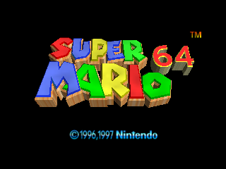 Super Mario 64 (Europe) (En,Fr,De) Title Screen