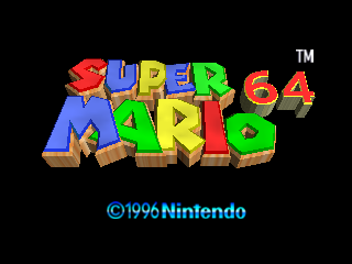 Super Mario 64 (USA) Title Screen