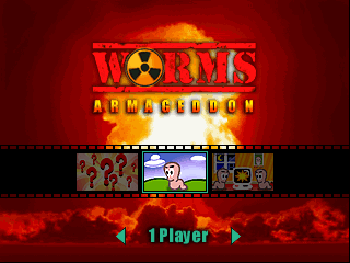Worms Armageddon (USA) (En,Fr,Es) Title Screen
