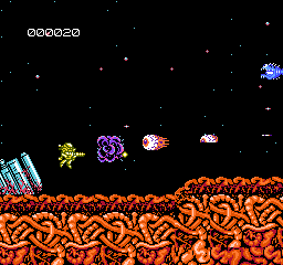 Abadox (USA) In game screenshot