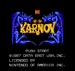 Karnov (USA) Title Screen
