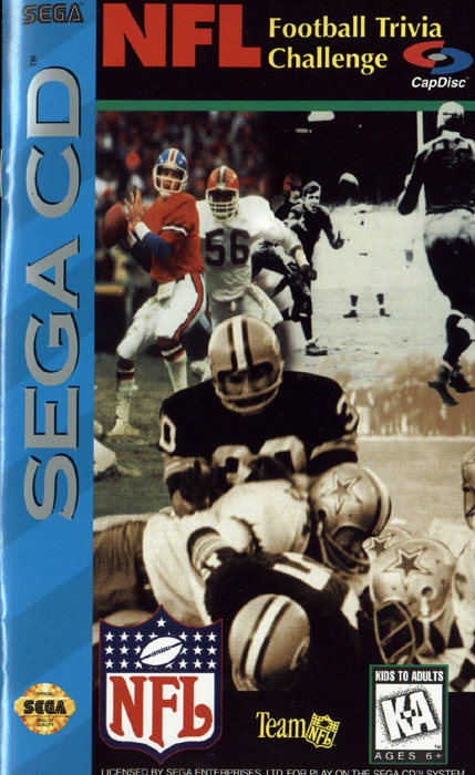 NFL Football Trivia Challenge (U) Front Cover